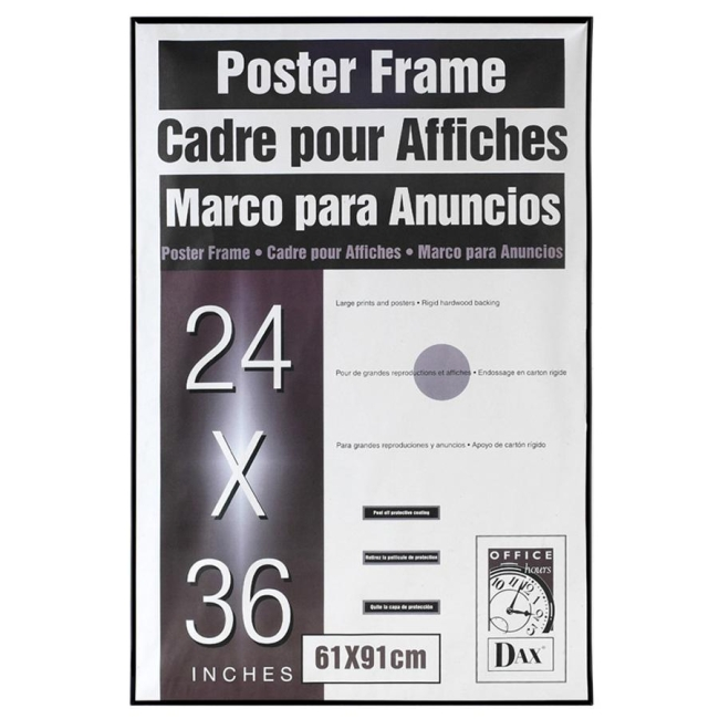 Burnes Black U-Channel Poster Frame - 24\
