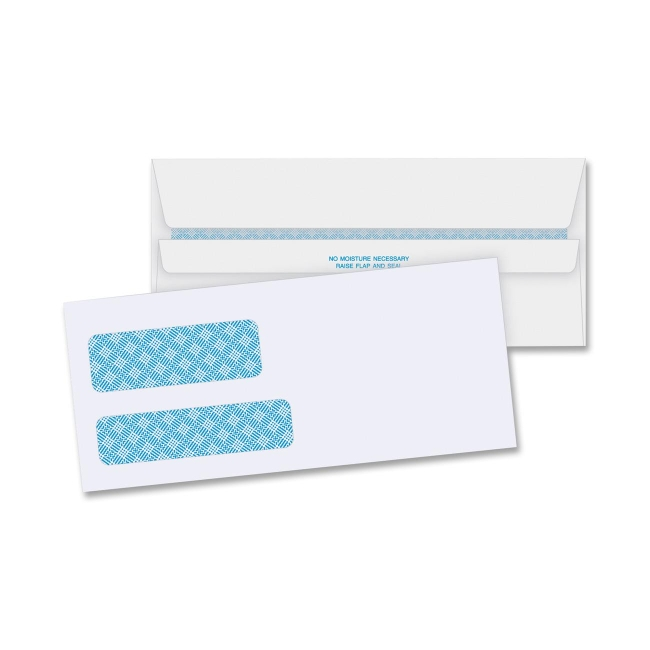 business source double window envelope 500 box white