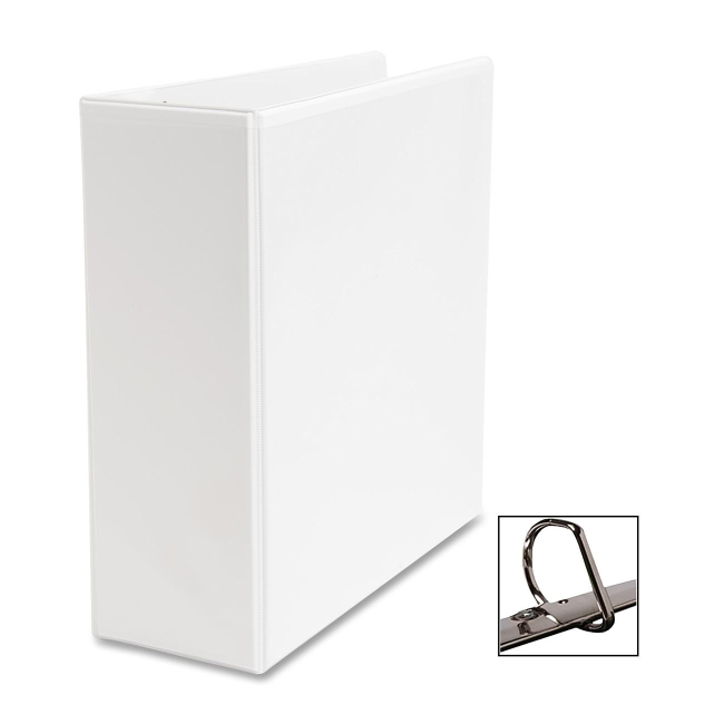 business source slanted ring presentation binder d shape 4