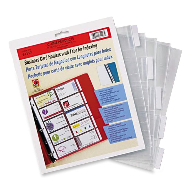 C line business card refill pages clear 5 pack quickship c line business card refill pages clear 5 pack reheart Image collections