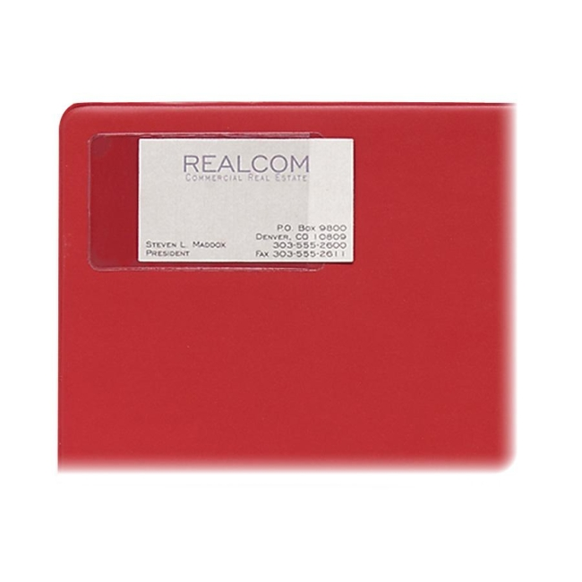 C Line 70238 Self Adhesive Business Card Holder Vinyl