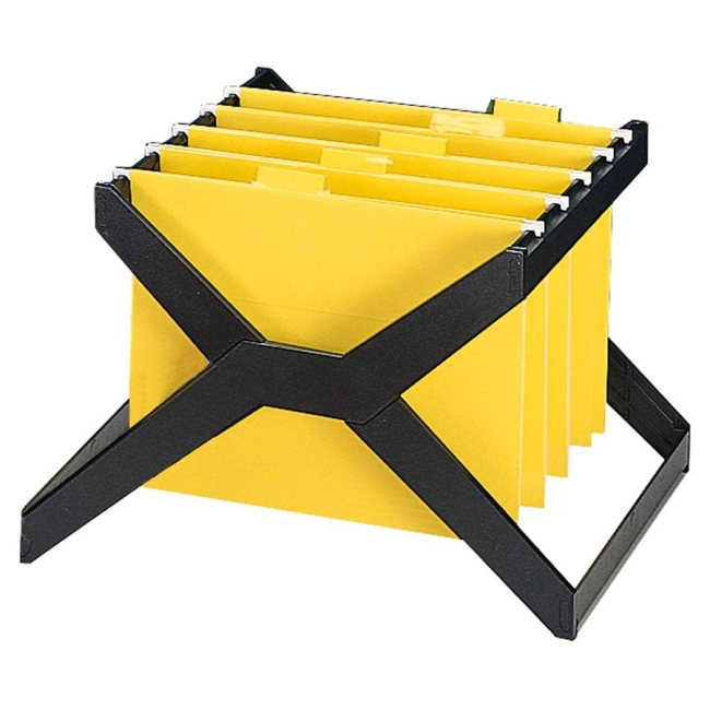 Deflect-o Desktop Hanging File X-Rack - Black - 1 Each - Quickship.com