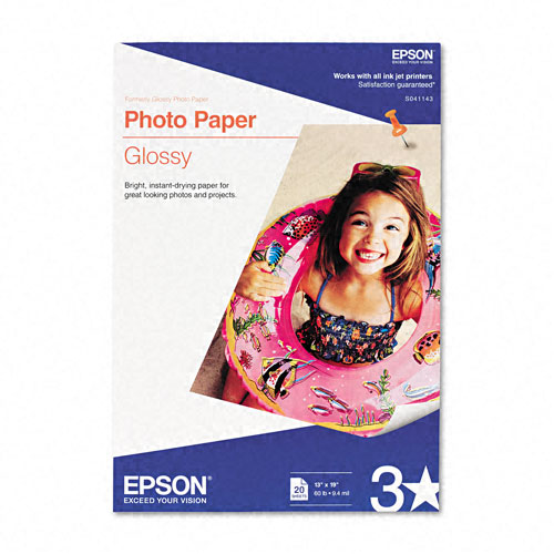 "Epson Photographic Papers - White - 13"" x 19"" - Soft Gloss - 20 Sheet"