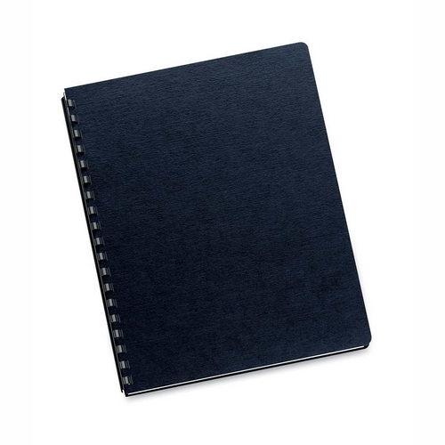Fellowes Linen Classic Binding Covers Black 200 Pack