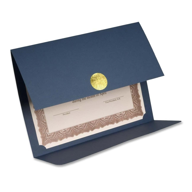 First Base Medallion Linen Certificate Holder - Blue - 5 / Pack ...