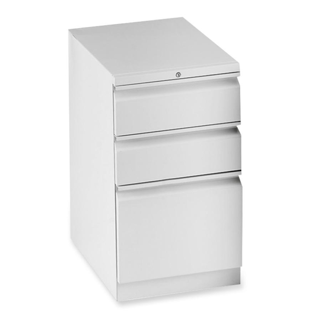 HON Flagship Series Mobile Pedestal File With 3 Drawers   Light Gray