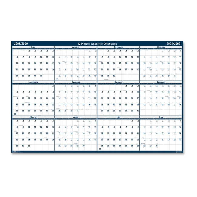 House Of Doolittle Horizontal Wall Planner 66 X 33