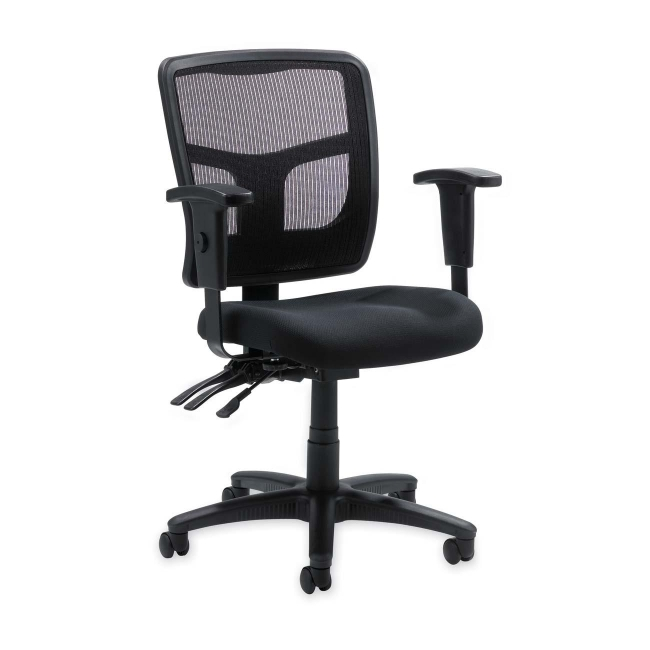 Lorell 86000 Series Managerial Mid Back Chair   Black