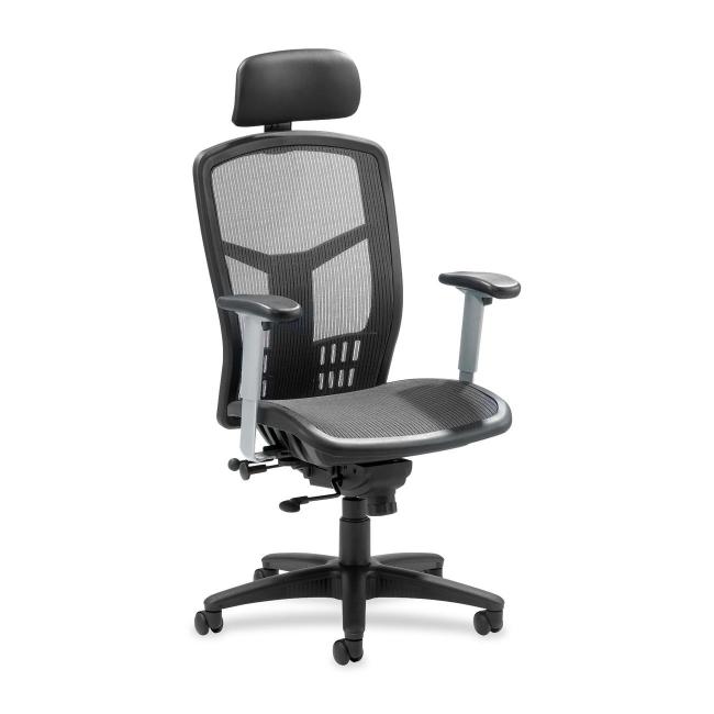 Lorell High Back Mesh Chair   Black   1 Each
