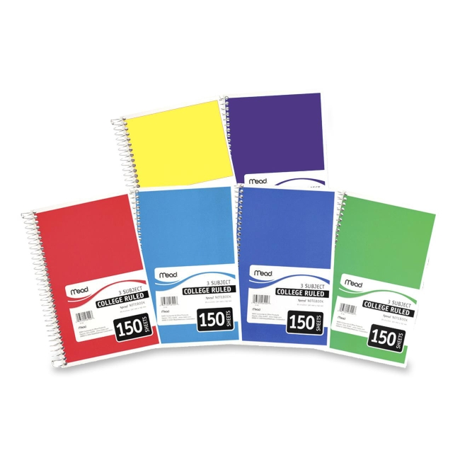 Mead 3-Subject Wirebound College Ruled Notebook - 6
