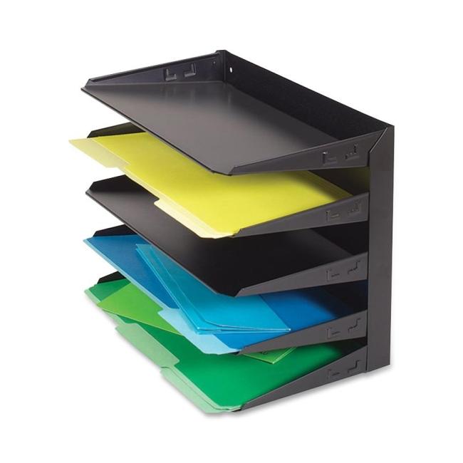 Mmf Steelmaster 2645hlbk Horizontal Desktop File Organizer 12 X 15
