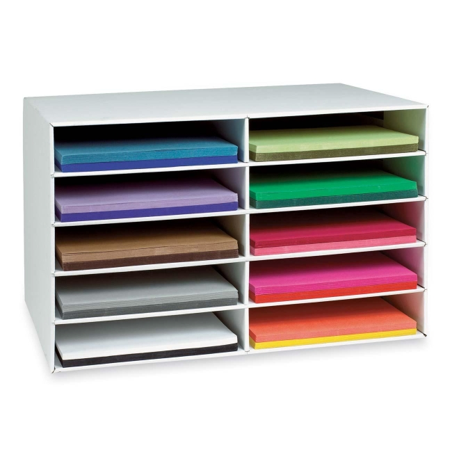 Pacon Construction Paper Storage Unit   1 Each   White