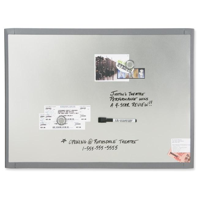 Quartet Dry Erase Board - 1 Each - Silver Frame - White - Quickship.com