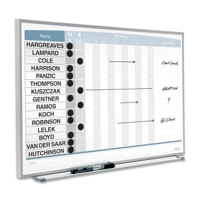 Quartet 33704 Magnetic Board White Steel Quickship Com