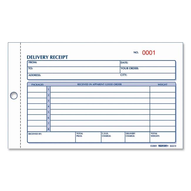 rediform delivery receipt book quickship com