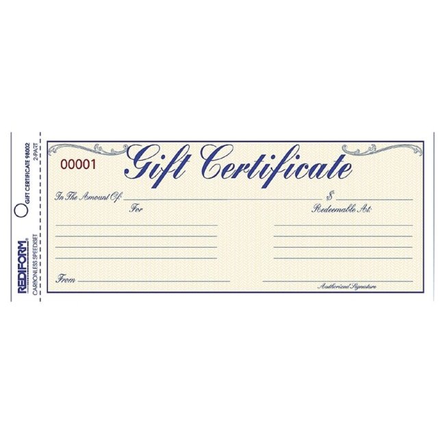 This is a graphic of Mesmerizing Gift Certificate Form