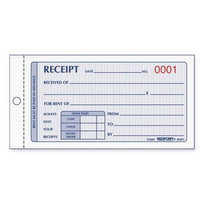 Rediform Rent Receipt Manifold Book Quickship Com
