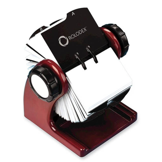 Rolodex wood tones rotary business card file quickship rolodex wood tones rotary business card file colourmoves