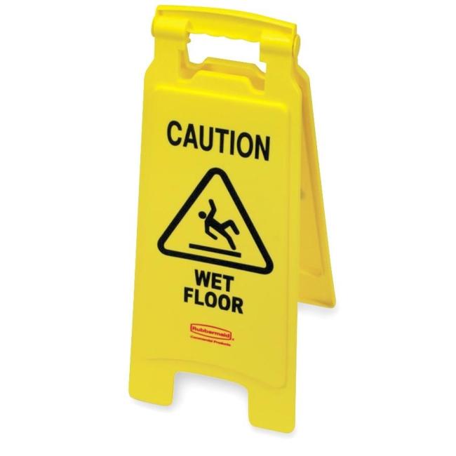 Rubbermaid Caution Wet Floor Safety Sign Quickship