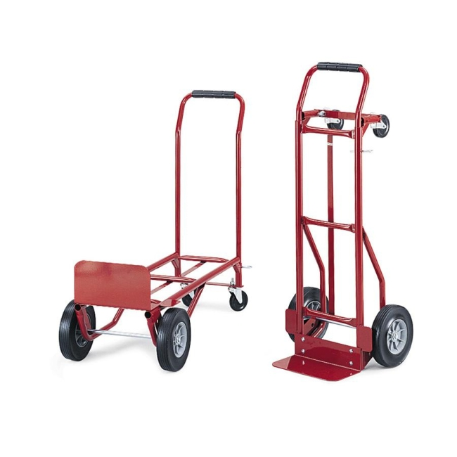 safco convertible hand truck 1 each red steel - Convertible Hand Truck