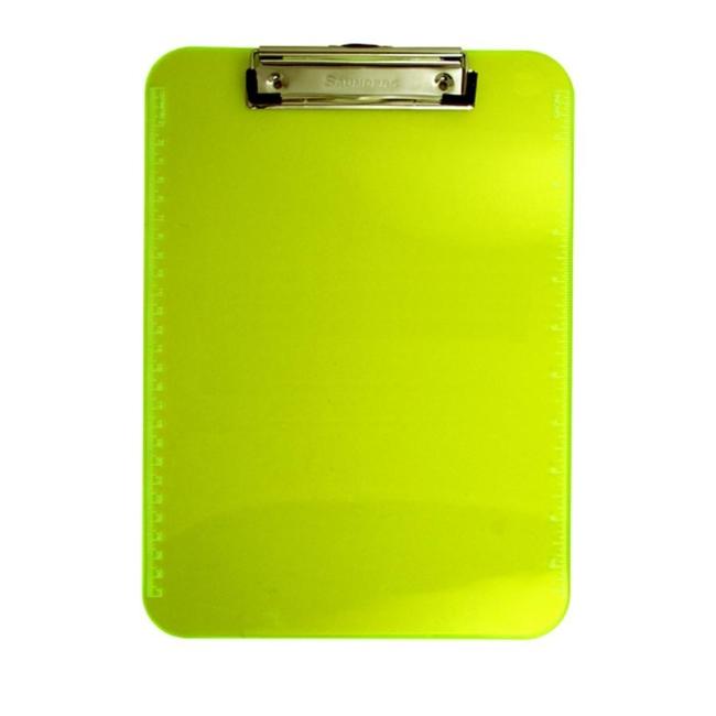 Saunders Neon Plastic Clipboard Yellow 1 Each