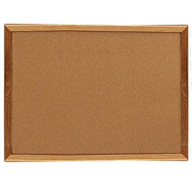Sparco Wood Frame Cork Board   24\