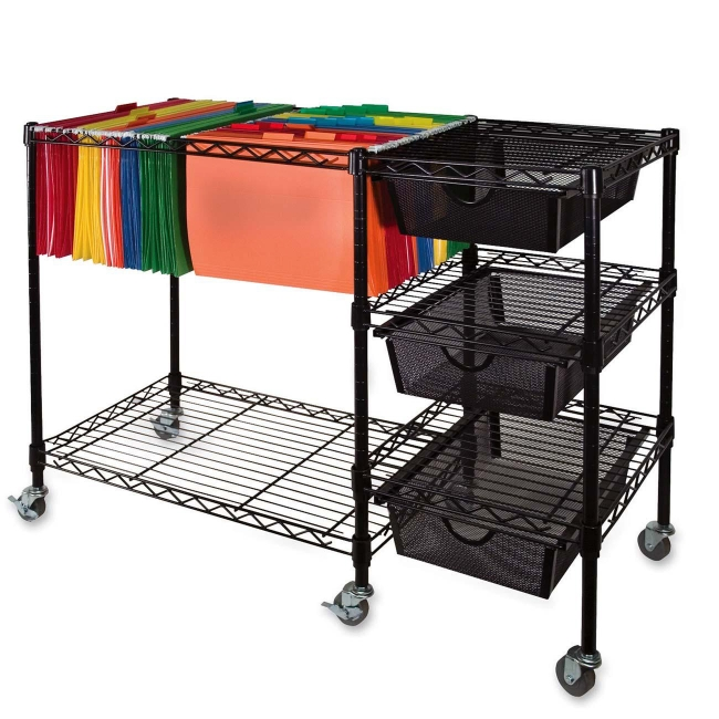 mobile file cart vertiflex mobile file cart 3 drawers quickship 23437
