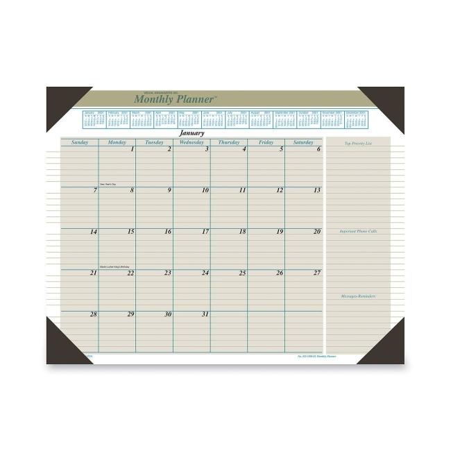 Visual Organizer Executive Monthly Desk Pad 22