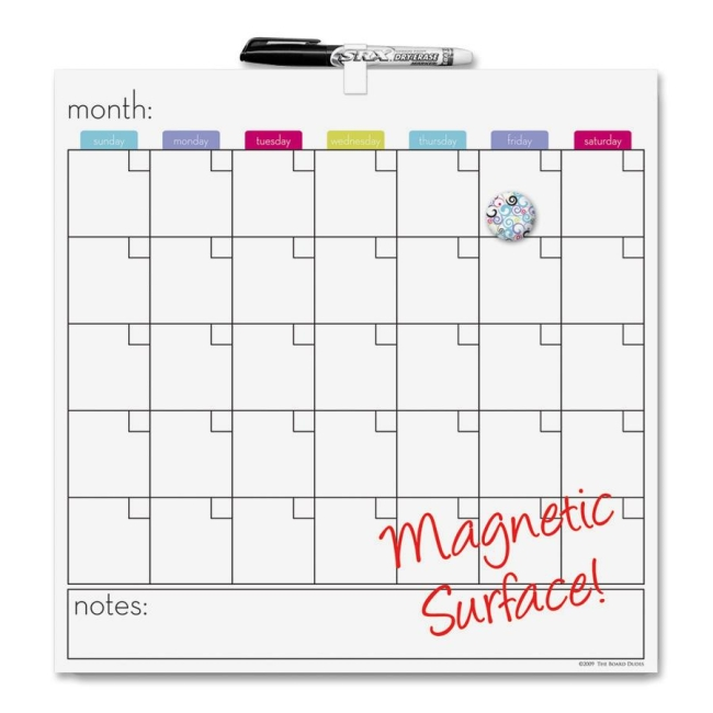 roseart the board dudes magnetic dry erase cubicle calendar