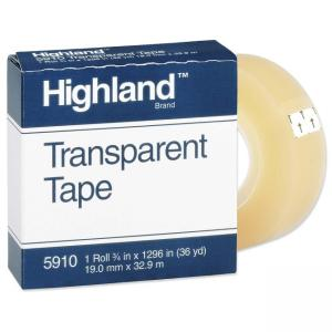 3M Highland Transparent Tape Clear