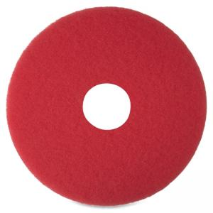 "3M Niagara 5100N Floor Buffing Pads - 16"" Diameter - 5/Box - Red"
