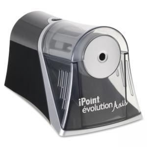 "Acme United iPoint Evolution Axis Single Hole Sharpener - Desktop - 1 Hole(s) - 4.5"" x 7\"" x 4.3\"" - Black, Silver"