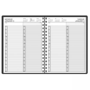 At-A-Glance Professional 2-Person Daily Appointment Book - Black Cover