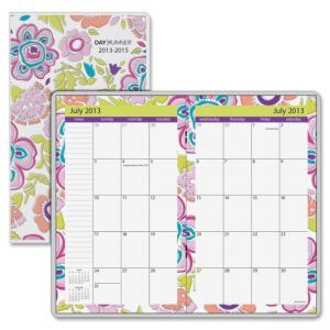 "Mead At-A-Glance Good Vibes 2 year Monthly Pocket Planner - Monthly - 3.63"" x 6.06\"" - 2 Year - July 2013 till June 2015 1 Mont"