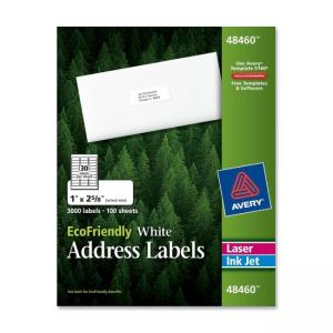 Avery EcoFriendly Address Label 3000 labels