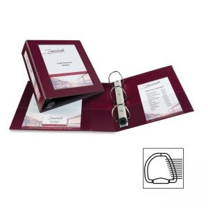 "Monarch Avery Framed View Binder - Letter - 8.50"" x 11\"" - 3 PocketsRing Fastener - 670 Sheet - 3\"" Capacity - Maroon - 1 / Eac"