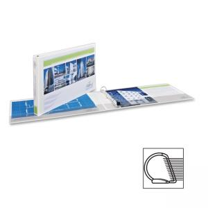"Monarch Avery Heavy-duty One Touch EZD Ring View Binder - Tabloid - 11"" x 17\"" - 2 PocketsD-Ring Fastener - 2\"" Capacity - Whit"