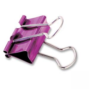 "Baumgartens Metallic Colored Binder Clip - Assorted 5 / Pack - Medium - 1"" Width"
