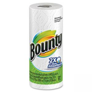 Bounty Paper Towel - 2 Ply - 44 Sheets/Roll - 1 Roll - White