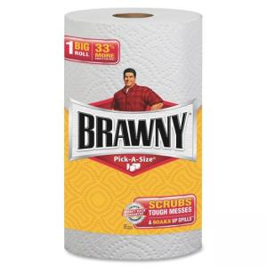 Georgia-Pacific Brawny Industrial Pick-a-Size Paper Towels - 2 Ply - 102 Sheets/Roll - 24 / Carton - White