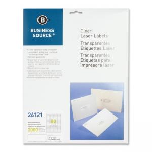 "Business Source Clear Address Laser Labels 2000 / Pack 0.50"" Width x 1.75"" Length"