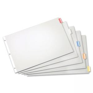 "Tops Cardinal Paper Insertable Dividers - 5 x Divider - BlankInsertable - 5 Tab(s)/Set - 17.50"" x 11.50"" - 1 Set - White Divider"