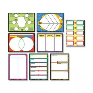 "Carson-Dellosa Graphic Organizers Bulletin Board Set - 0.1"" x 20\"" x 29.5\"" - Multicolor"