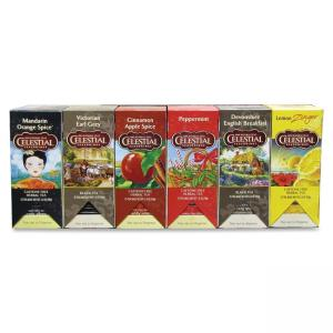 Celestial Seasonings Marjack Assorted Teas - Mandarin Orange Spice, Lemon Zinger, Devonshire English Breakfast, Earl Grey, Peppe