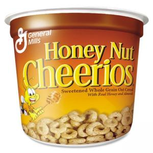 Nature Valley Cheerios Honey Nut Cereal-In-A-Cup - Low Fat - Honey Nut - 1 Serving Cup - 1.30 oz - 6 / Pack