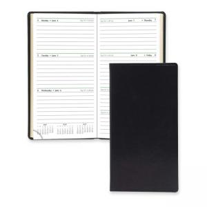 DAY-TIMER Slim Weekly Appointment Planner Black Cover
