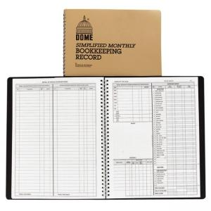 Dome Publishing Simple Weekly/Monthly Accounting Book 50 sheets