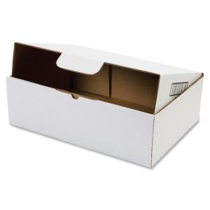 "Duck Locking Literature Mailing Boxes - 4"" Height x 13\"" Width x 9\"" Depth External Dimensions - Corrugated - White - Literatur"