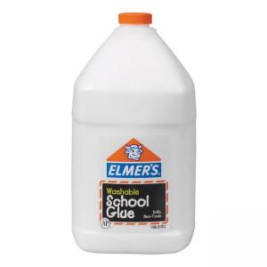Elmers Washable Clear School Glue - White - 1 Gallon