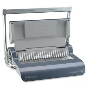 Fellowes Quasar Manual Comb Binding Machine - Manual - CombBind - 500 Sheet(s) Bind - 22 Punch - Metallic Blue
